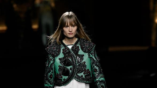 Creations by Louis Vuitton, Chanel presented at fashion show in Paris